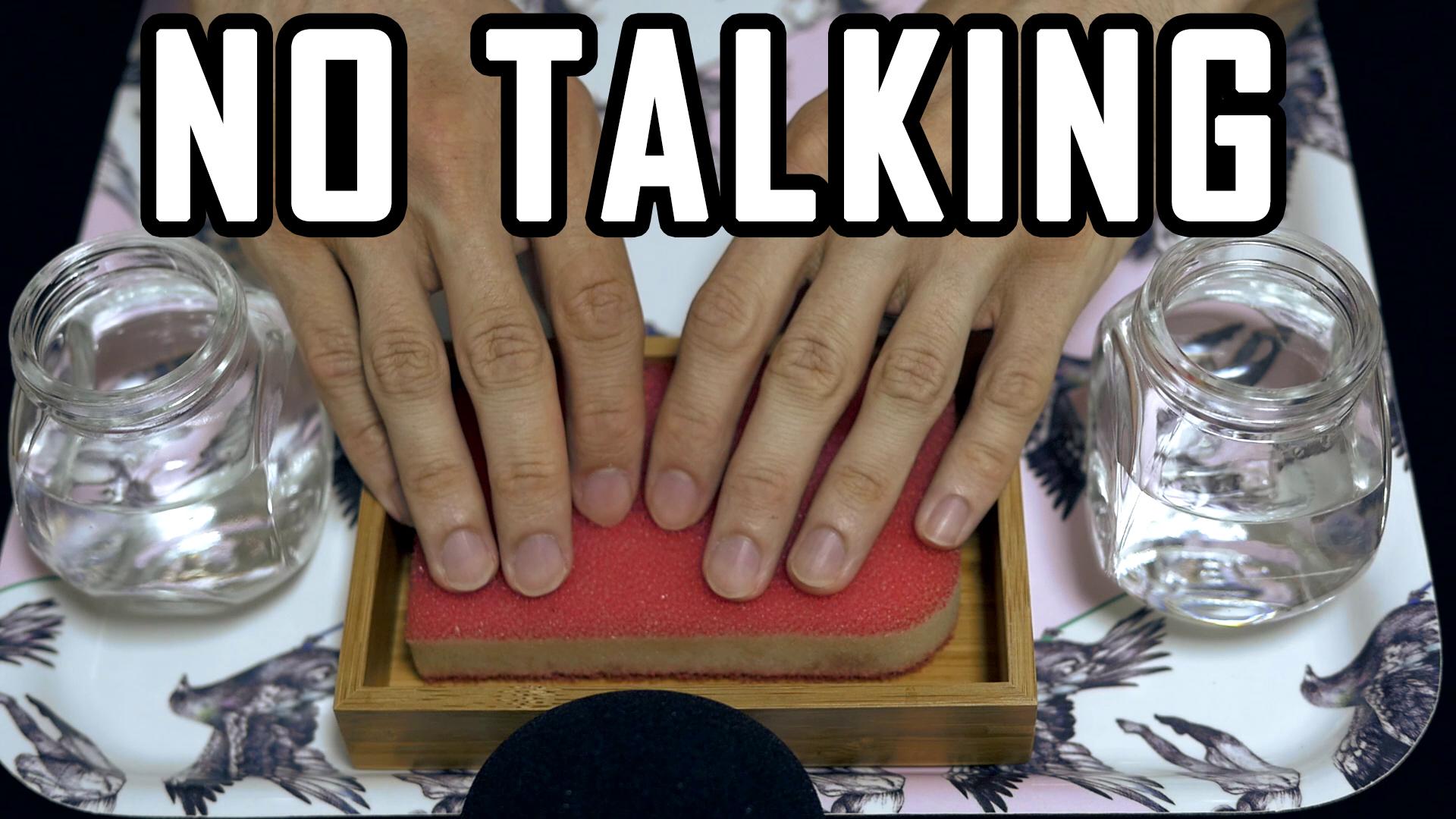 Asmr No Talking asmr no talking video - sponge scratching, squishing and